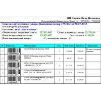 Список Закупленного товара  - Расширенный Отчет для Тирика-Магазин