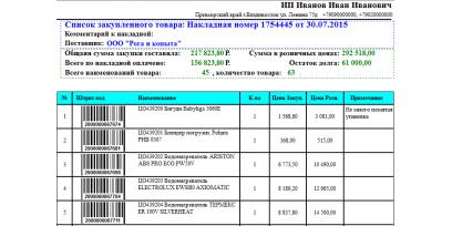 Инструкция по установке шаблонов первичных документов Тирика Магазин