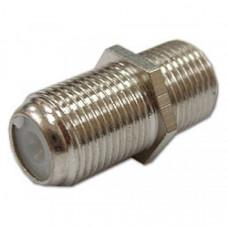 Переходник F гнездо - F гнездо STR-15-130(B)Z, для соединения кабеля, цинк