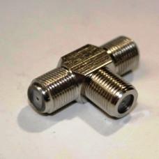 Тройник - 3 F гнезда, STR-15-149C, для соединения кабеля, медь
