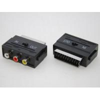 Переходник SCART - 3 RCA, с переключателем in - out, STR-SC-01