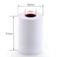 Чековая лента (термобумага) 57мм x 40мм х 12метров