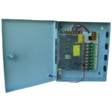 Источник питания S-60-12 в металлическом коробе, 12В 5A, 9 канальный